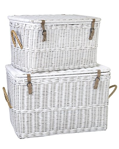 East at Main Brussels White Rectangular Rattan Storage Trunk