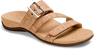 Ladies Backstrap Sandals with Concealed Orthotic Arch Support Vionic Womens Rest Jodie Sandal