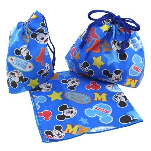 Three-piece set Mickey Mouse 'star' in matching lunch ( lunch cross + cup + lunch bag purse )
