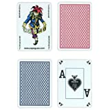 Copag Poker Size PEEK Index Playing Cards (Blue Red Setup) - 2packs total