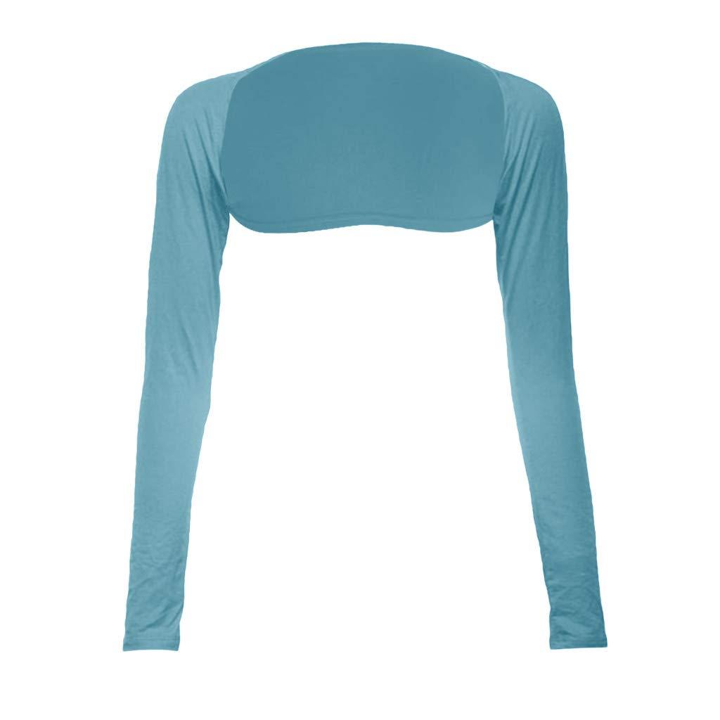 Toimothcn Fashion One Piece Sleeves Arm Cover Shrug Bolero Hijab Muslim(Blue,Free)
