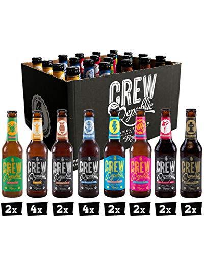 CREW REPUBLIC® Craft Bier Mix Probierset | World Beer Awards Gewinner 2020 | Ideales Geschenk für Männer und…