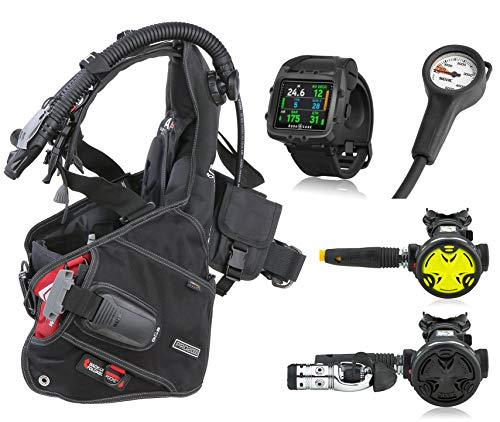 SEAC Pro 2000 BCD, Synchro Regulator Octopus and Aqua Lung i750 Dive Computer, Scuba Gear Package
