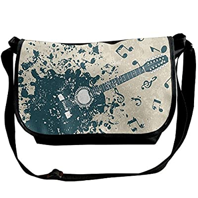 c612d91a86 durable service Lovebbag Acoustic Guitar On Retro Murky Background With  Music Notes Melody Illustration Crossbody Messenger