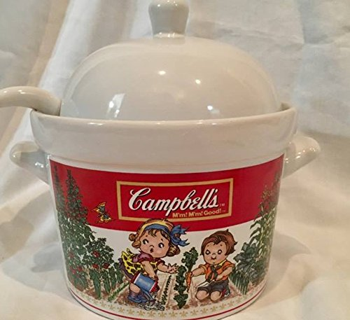 Vintage Westwood Ceramic Campbell's Soup Tureen with Ladle (8