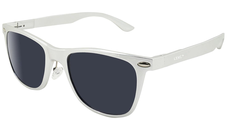 LZXC Verspiegelte polarisierte Sonnenbrille Revo Fashion Vintage Style Unisex AL-MG Metallart UV400 Schutz Sonnenbrille U2B74Bk