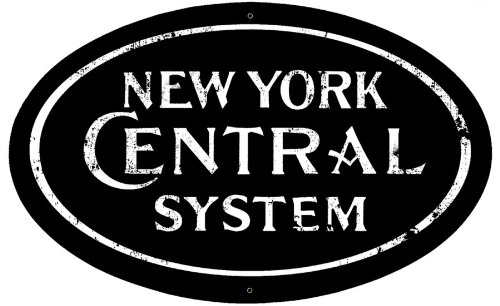 New York Central Logo Herald Sign Tin Vintage Style Railroad Herald Signs (New York Central Railroad)