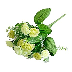 dezirZJjx Artificial Flowers 1 Pc/13 Buds Artificial Rose Flowers Grass Wedding Party Office Home Decoration - Green 120