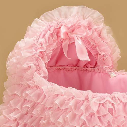 Babykidsbargains Little Ballerina Pink Bassinet Liner Skirt and Hood, 16'' x 32''