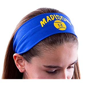 Design Your Own Personalized Softball Cotton Stretch Headband ~ Highlight ~CHOOSE YOUR CUSTOM COLORS FROM CHARTS IN THIS LISTING