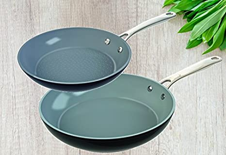 Laguiole 2 sartenes de | Non de Stick, Aluminio Fundido, Incluye sartén - , Apta para inducción, Color Negro: Amazon.es: Hogar