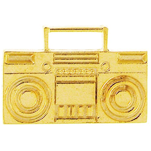 GirlPROPS(R) Boombox 2 Finger Ring, Adjustable, 100% Made in USA!, in Gold (Gold Boombox)