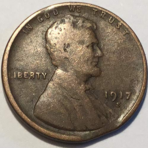 1917 S Lincoln Wheat Penny Good
