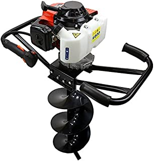 3hp 63cc Epa Gas Earth 2 Man Post Hole Digger W 4' Auger Bit Machine 2 Person Hd