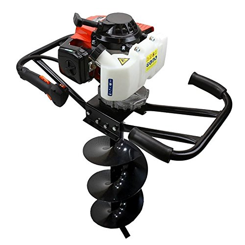 3hp 63cc Epa Gas Earth 2 Man Post Hole Digger 2 Person + 6' Auger Bit Machine Hd