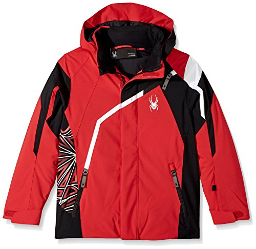 Spyder Boy's Challenger Ski Jacket, Red/Black/White, Size 12