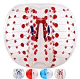 Bubble Soccer Balls Dia 5' (1.5m) Human Hamster Ball, Bubble Football,Bumper Ball, Zorbing Ball, Knocker Ball, Smash Ball Stress Ball Loopy Ball (Red Dot)