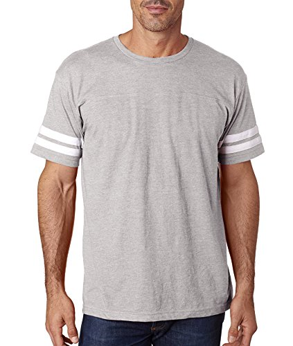LAT Mens Adult Football Tee, VN HTHR/BD WHT, Large