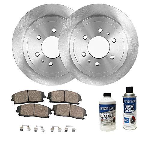 (Detroit Axle - Pair (2) Rear Disc Brake Rotors w/Ceramic Pad Kit for 96-99 Acura SLX - [94-02 Honda Passport] - 94-01 Isuzu Amigo - [01-04 Axiom] - 93-04 Rodeo - [92-02 Trooper])