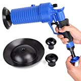 HORUSDY Air Drain Blaster, Clogged Pipes, High Pressure Cleaner Unclogs Toilet Pump Hand Powered Plunger Pump Set