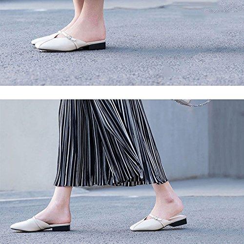 Mulas Verano Conjunto Boca Jianxin Zapatillas De Cuadrada Con Media Mujer Moda Baotou Baja Pie Sandalias Cabeza Salvaje Medias BqIIwaUY