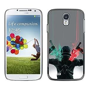 """For Samsung Galaxy S4 Case , Espada Guerrero Arte del juego de dibujo de caracteres"""" - Diseño Patrón Teléfono Caso Cubierta Case Bumper Duro Protección Case Cover Funda"""