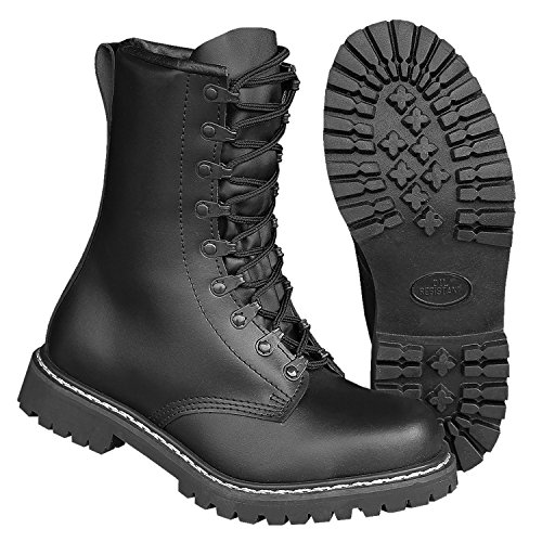 mit Botas Militares Brandit Para Negro Schwarz Botas Futter Negro wPqF0