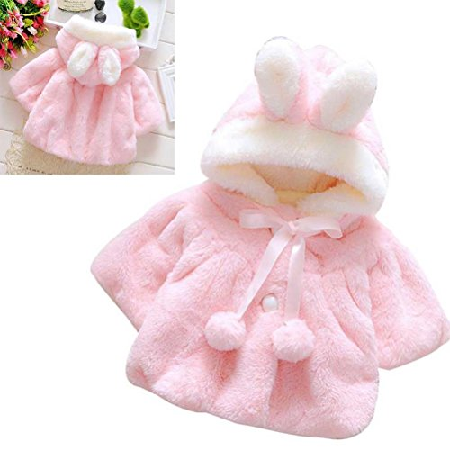 Baby Girl Cotton Autumn Winter Warm Coat Cloak Jacket Clothes - 7