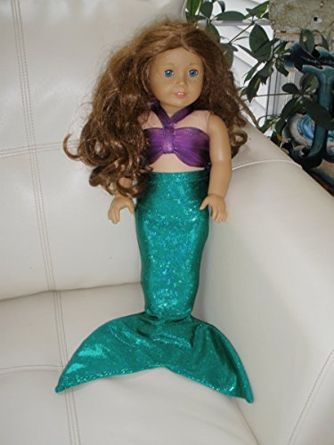 Ariel Outfit (American Girl Sized Mermaid Tail Outfit. Ariel. Fits 18