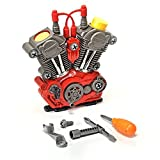 Build-Your-Own Engine Play Set and Power Drill Kit by Brunfen Toys