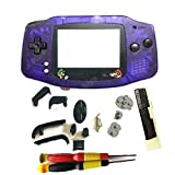 Hot Crystal Blue Color With Mars Bros Lens No scratch New Housing For Gameboy Advance GBA Console Shell Full Case Replacement With Logo (with screwdrivers)