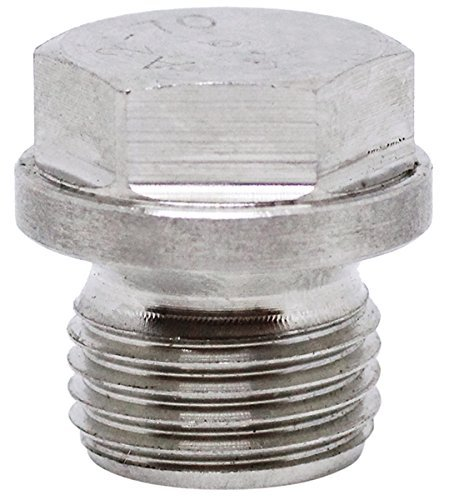 BelMetric (2pcs) M16X1.5 Flanged A2-50 Stainless Steel Hex Head Corrosion Resistant Plugs DIN 910 for Machinery and Fittings, Sealing Washers Included DP16X1.5HSS