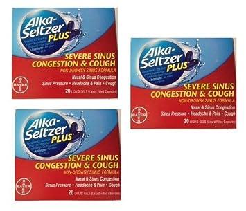 Amazon com: Alka-seltzer Plus Severe Sinus Congestion