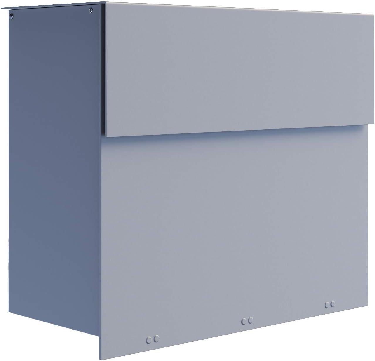 MOLTO Contemporary Designer Mailbox in Powder-Coated Grey