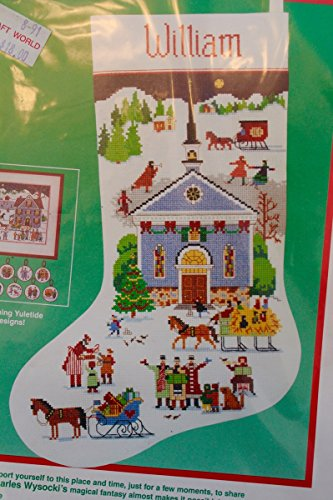 (Dimensions Christmas Yuletide Village Cross Stitch Stocking Kit 8402 )