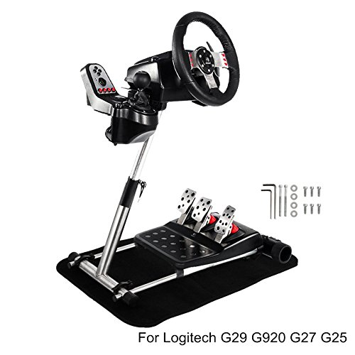Mophorn Racing Wheel Stand Adjustable Gaming Wheel Stand for Logitech G25 G27 G29 and G920 Racing Steering Wheelstand (Wheel and Pedals Not Included) Steering Wheel Stand (Xbox 360 Steering Wheel And Pedals For Sale)