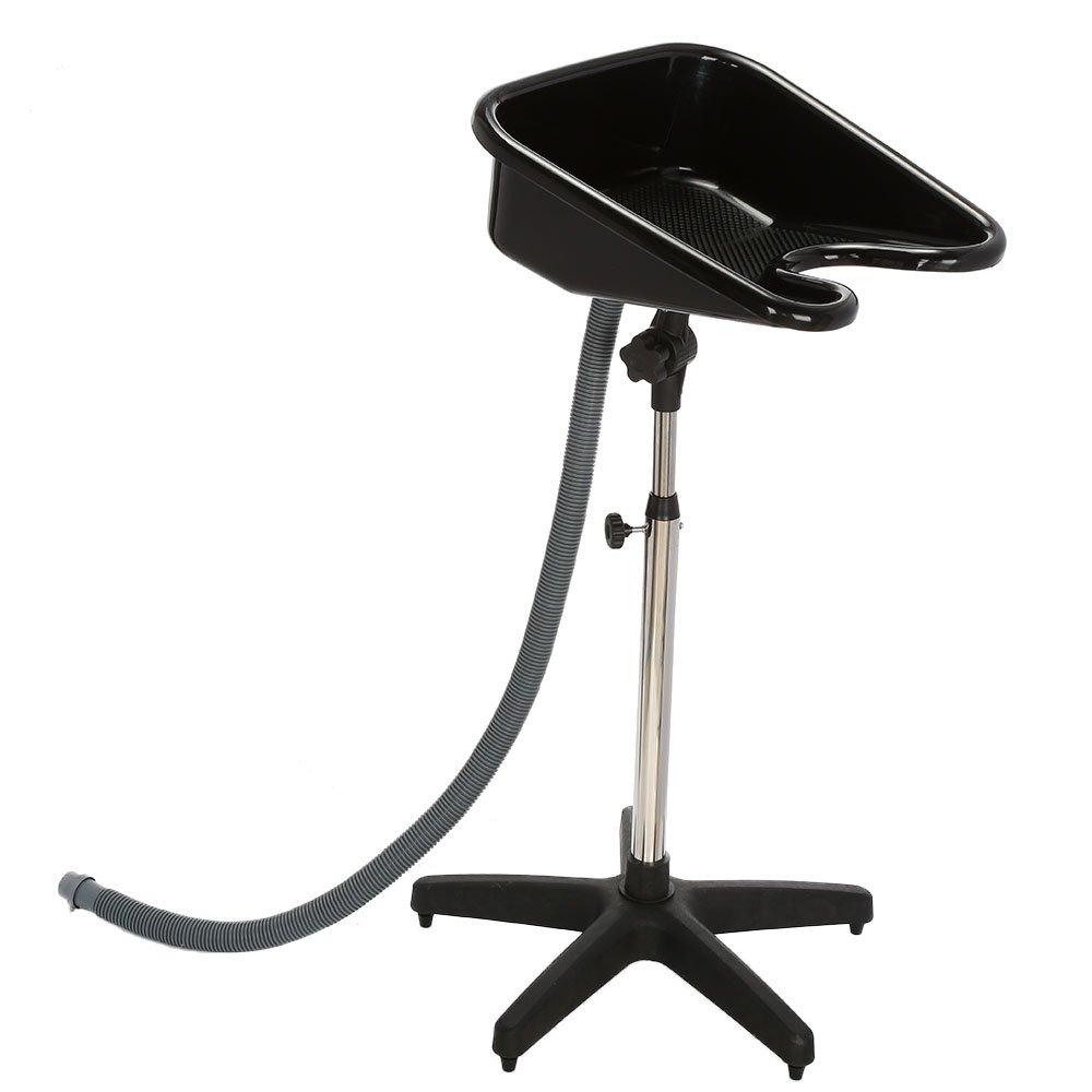Anself Hair Salon Shampoo Sink Hair Shampoo Bowl Basin, Black 22854