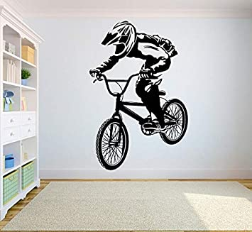 Etiqueta De Pared, Bicicleta De Montaña Competencia Vinilo ...