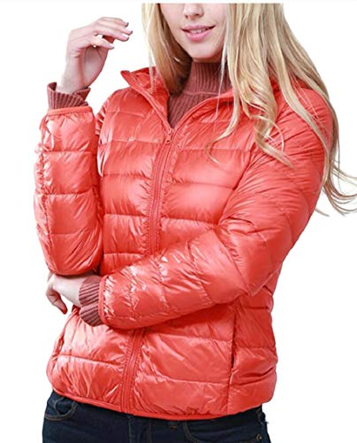 Resistant Down Zip Coat Women 5 Ultra Up Hooded Puffer Gocgt Coat Jacket Packable pCvxwn1