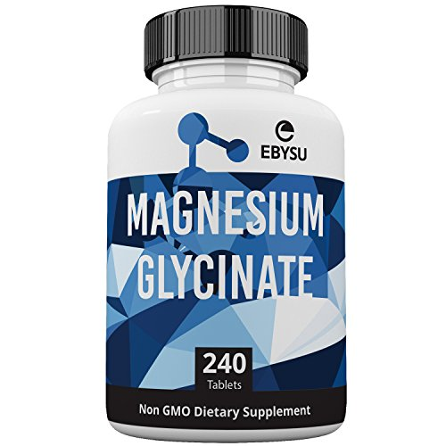 Magnesium Glycinate - 240 Day Supply - Mag Complex Supplement Formulated for High Absorption, Calm, Muscle Relax & Gentle Digestion, Vegan, Non-GMO, Gluten-Free, Soy Free, Bioavailable (Glycinate 240 Tablets)