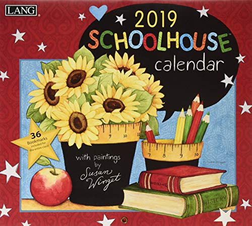 Schoolhouse 2019 Calendar: Includes Free Wallpaper Download and 36 Bookmarks