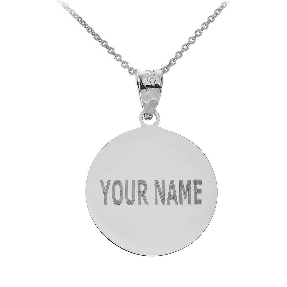 20 Sports Charms 925 Sterling Silver Personalized Baseball//Softball Necklace with Your Name and Number