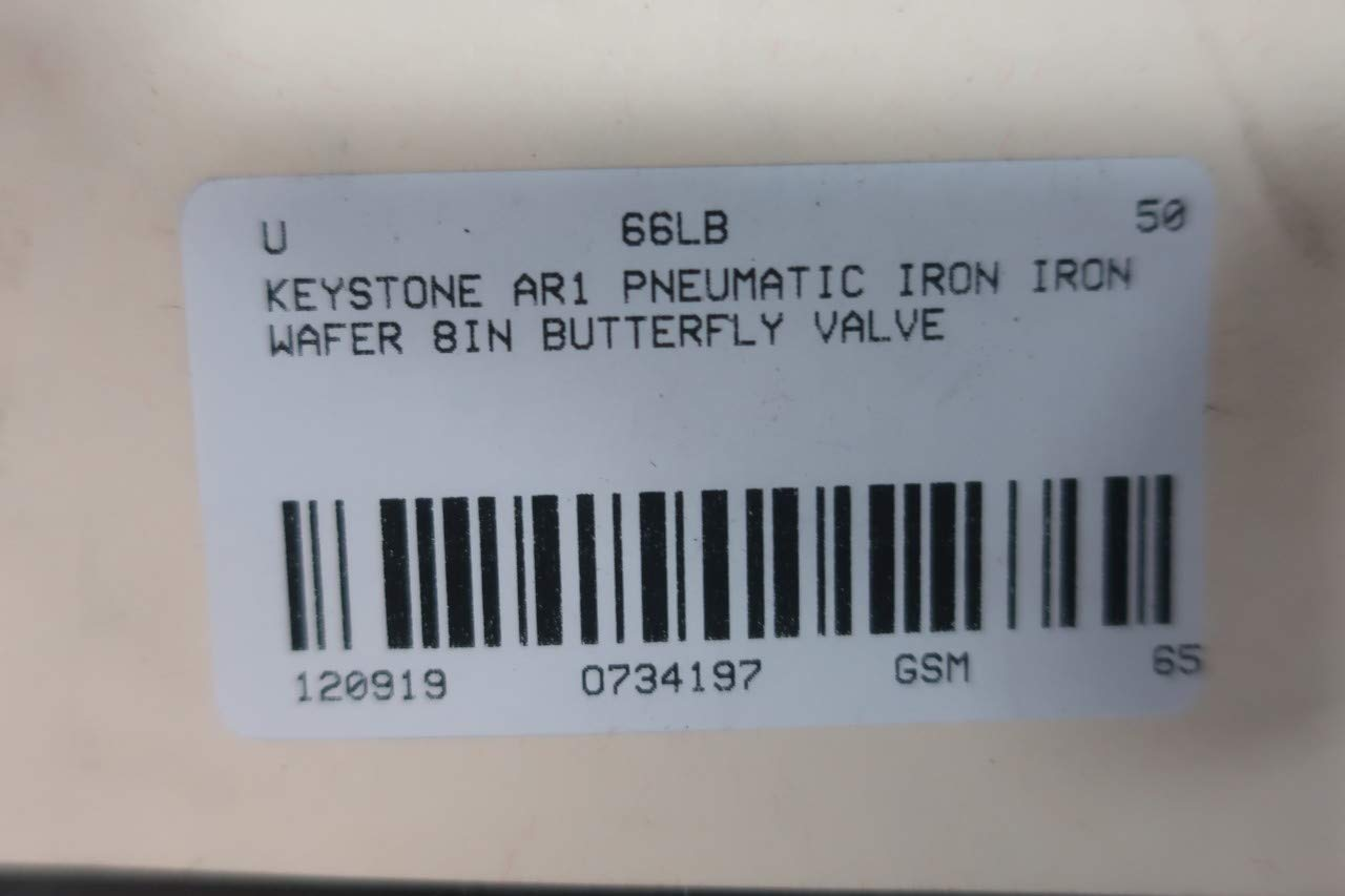 KEYSTONE AR1 Pneumatic Iron Wafer Butterfly Valve 8IN