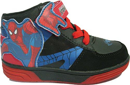 Baskets montantes noires Spiderman pour garçons