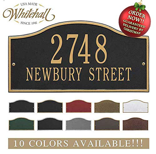 Metal Address Plaque Personalized Cast The Rolling Hills Plaque. Display Your Address and Street Name. Custom House Number Sign. Order by 12PM PST, DEC. 16TH and GET IT for ()