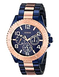 Guess Women's U0231L6 Two-Tone Stainless-Steel Quartz Watch with Blue Dial