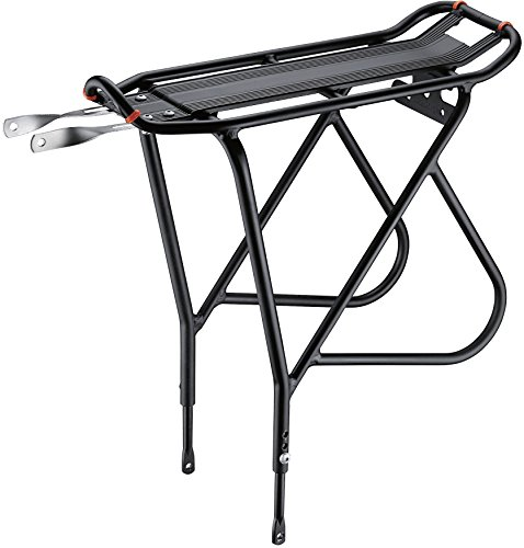 Rack Aluminum Bicycle - Ibera Bike Rack - Bicycle Touring Carrier with Fender Board, Frame-Mounted for Heavier Top & Side Loads, Height Adjustable for 26