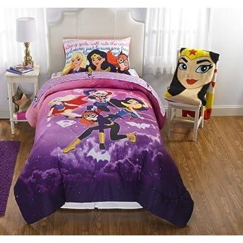 DC Superhero Girls U0026quot;Cosmic Girlu0026quot; Reversible Twin/Full Bedding ...