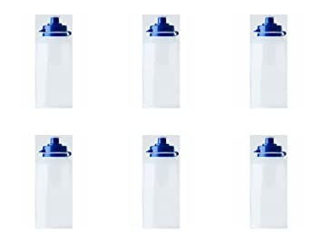 54ac738839 6 x Clear School Water Bottles Sports / Water Bottles - Kids Drink Water  Bottles -