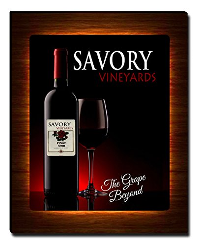 ZuWEE Savory Family Winery Vineyards Gallery Wrapped Canvas Print